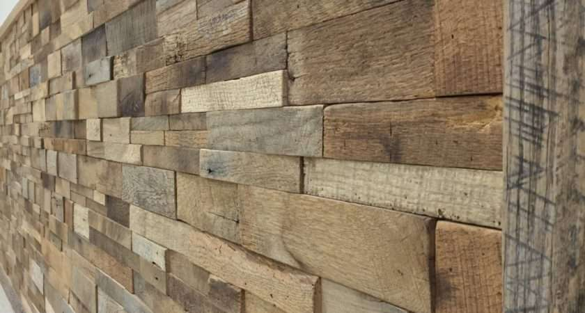 Reclaimed Barn Wood Stacked Wall Panels Diy