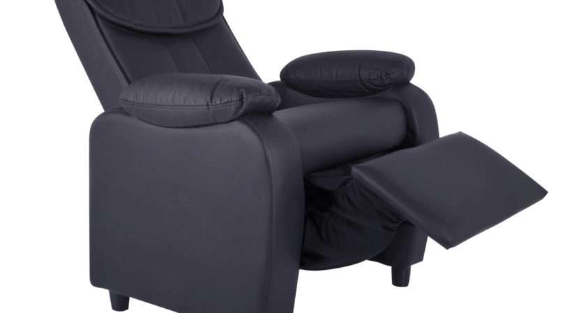 Recliner Chair Comfy Faux Leather Armchair Various Styles Ebay