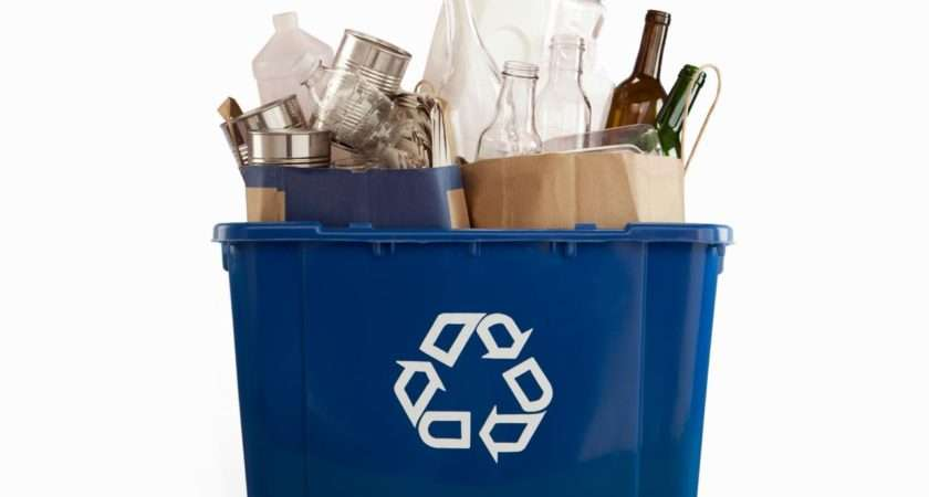 Recycle Bin Filled Recyclables Edward Bock
