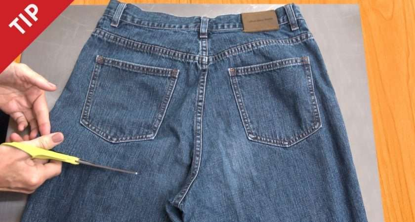 Recycle Jeans Into Garden Apron Chow Tip Youtube
