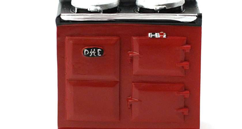 Red Aga Style Stove Dolls House