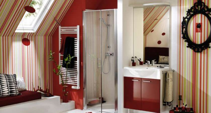 Red Bathroom Decorating Ideas Room Home