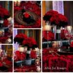 Red Black Weddings Lee James Floral Chair Affair Chargers