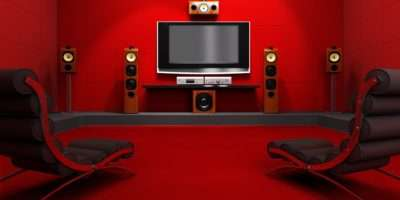 Red Cinema Room