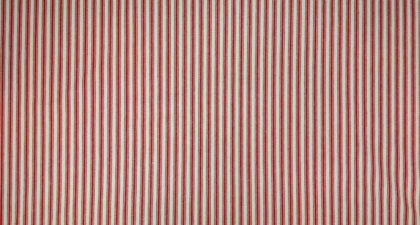 Red Cotton Ticking Stripe Curtain Fabric Upholstery