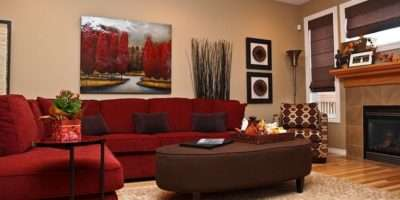 Red Couch Becomes Instant Focal Point Room Design