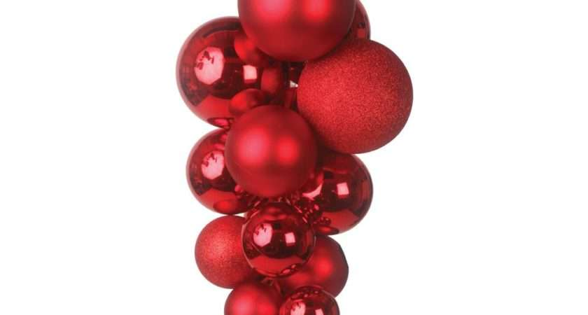 Red Giant Decorated Bauble Cluster Peeks