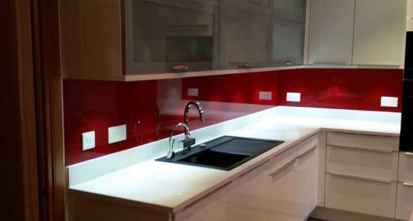 Red Glass Splashbacks