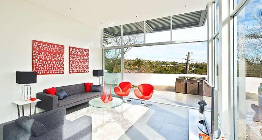 Red Gray Living Rooms Panda House