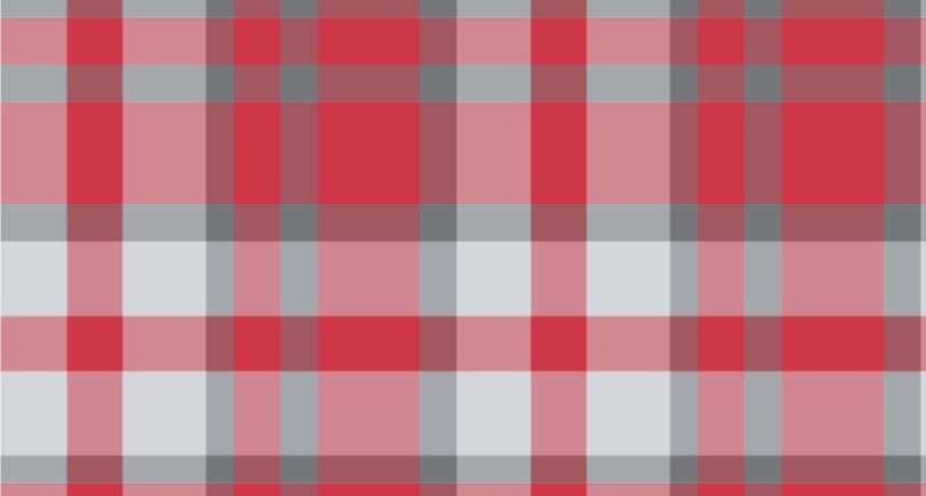Red Gray Plaid Surface Covering Water