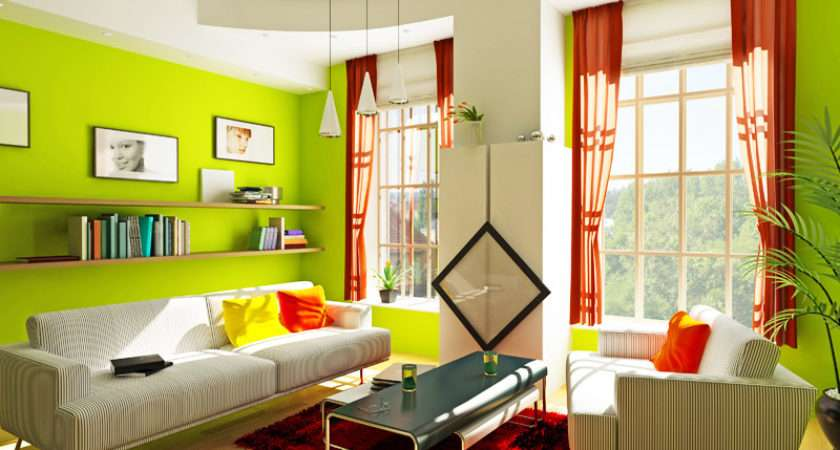Red Green Living Room
