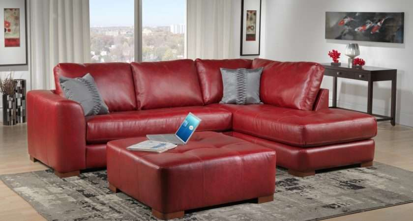 Red Leather Sofa Decorating Ideas Great