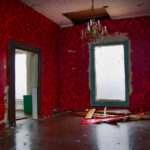 Red Living Room Rehabbing Old House
