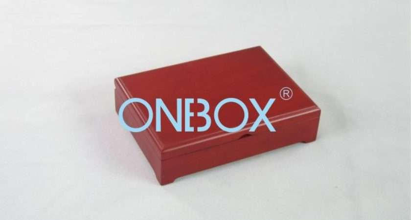 Red Matte Painting Wooden Gift Box Jewelry Set Packaging Luxury