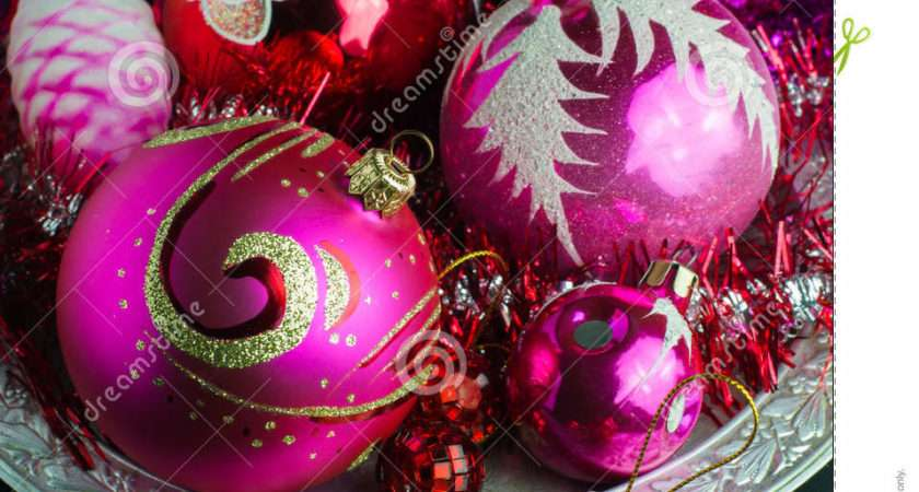 Red Pink Christmas Decorations