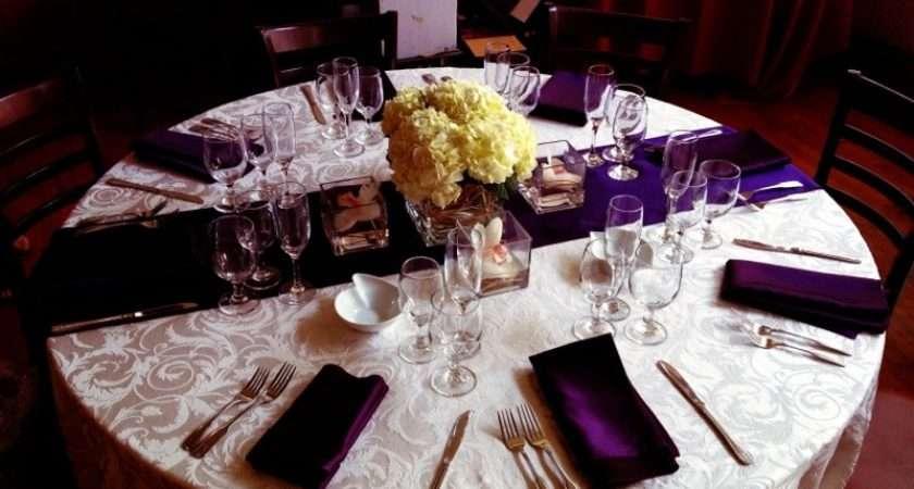 Red Purple Wedding Table Settings