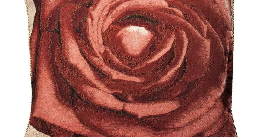Red Rose Tapestry Cushion Cover Cms