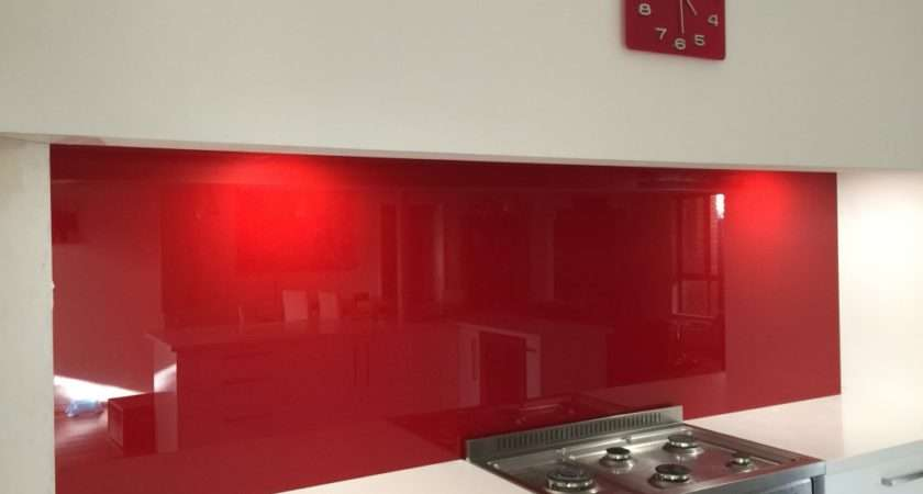 Red Splashbacks Perth Kitchen Glass