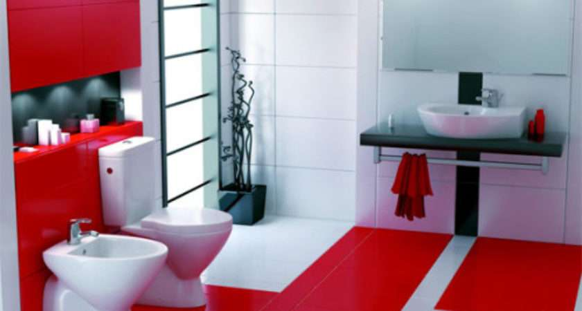 Red White Bathroom Design Trends New Home Scenery