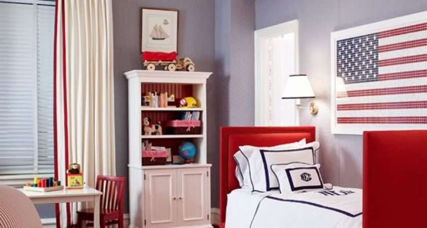 Red White Blue Boy Room Traditional