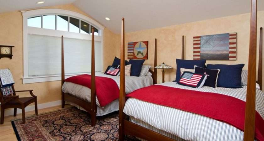 Red White Blue Patriotic Bedroom Mariposa Bend