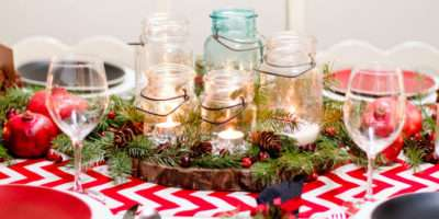 Red White Christmas Table Decor