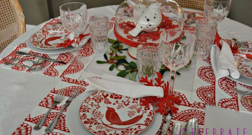 Red White Christmas Tablescape Celebrate Decorate