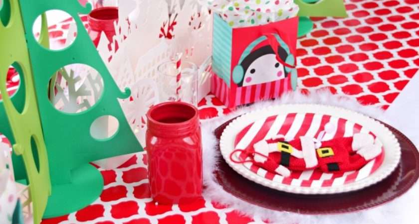 Red White Christmas Tablescape