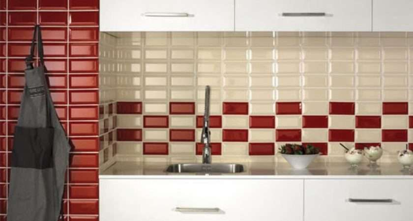 Red White Kitchen Backsplash Tile Ideas