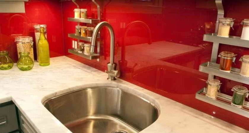 Red White Kitchen Design Decor