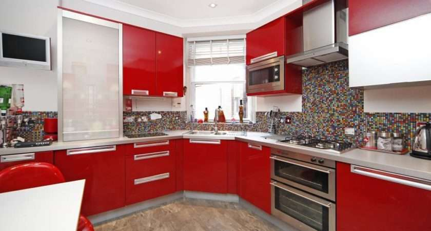 Red White Kitchen Mosaic Tiles