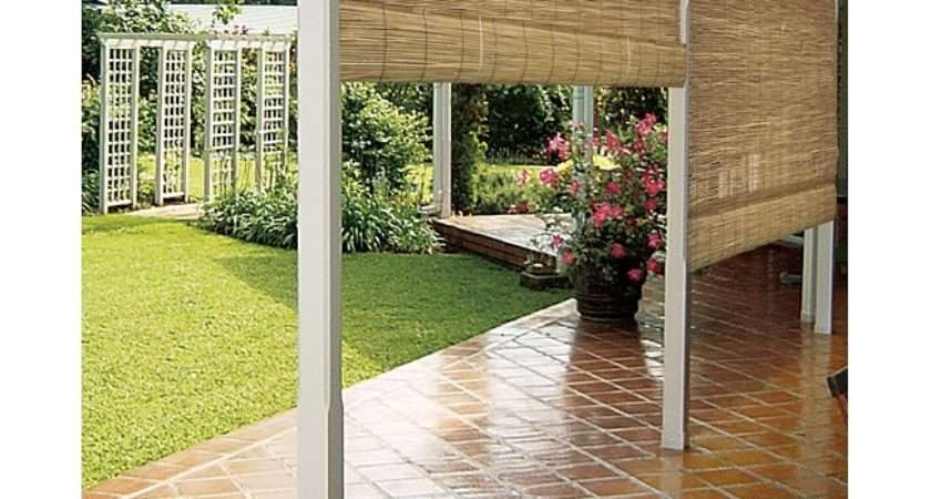 Reed Natural Outdoor Roll Blind Overstock