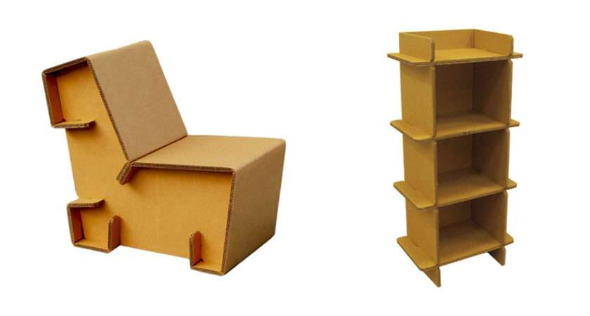 Refoldable Cardboard Furniture Makes Cheap Easy Mosey
