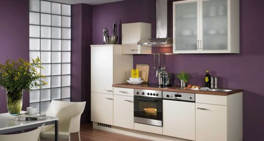 Remarkable Purple Kitchen Walls White Cabinets