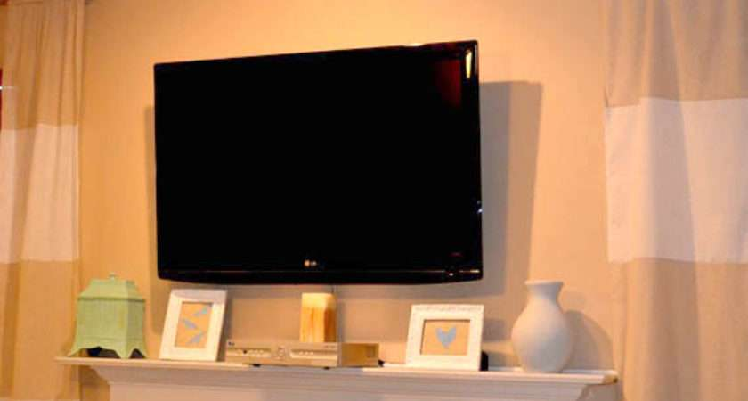 Remodelaholic Wall Mount Your Flat Screen Under