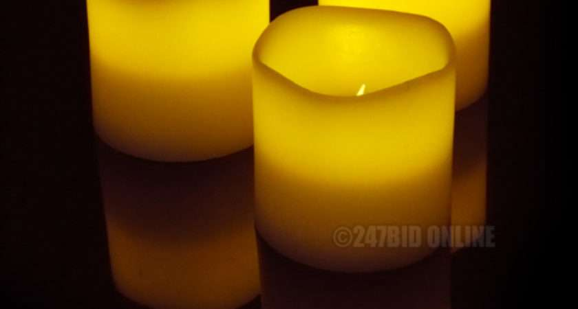 Remote Controlled Led Flameless Wax Mood Candles