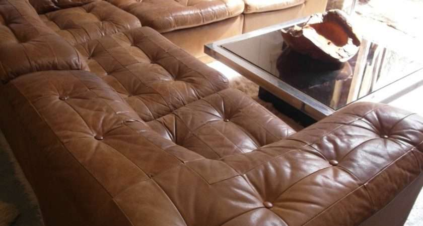 Retrobarn Vintage Danish Modular Sofa Tan