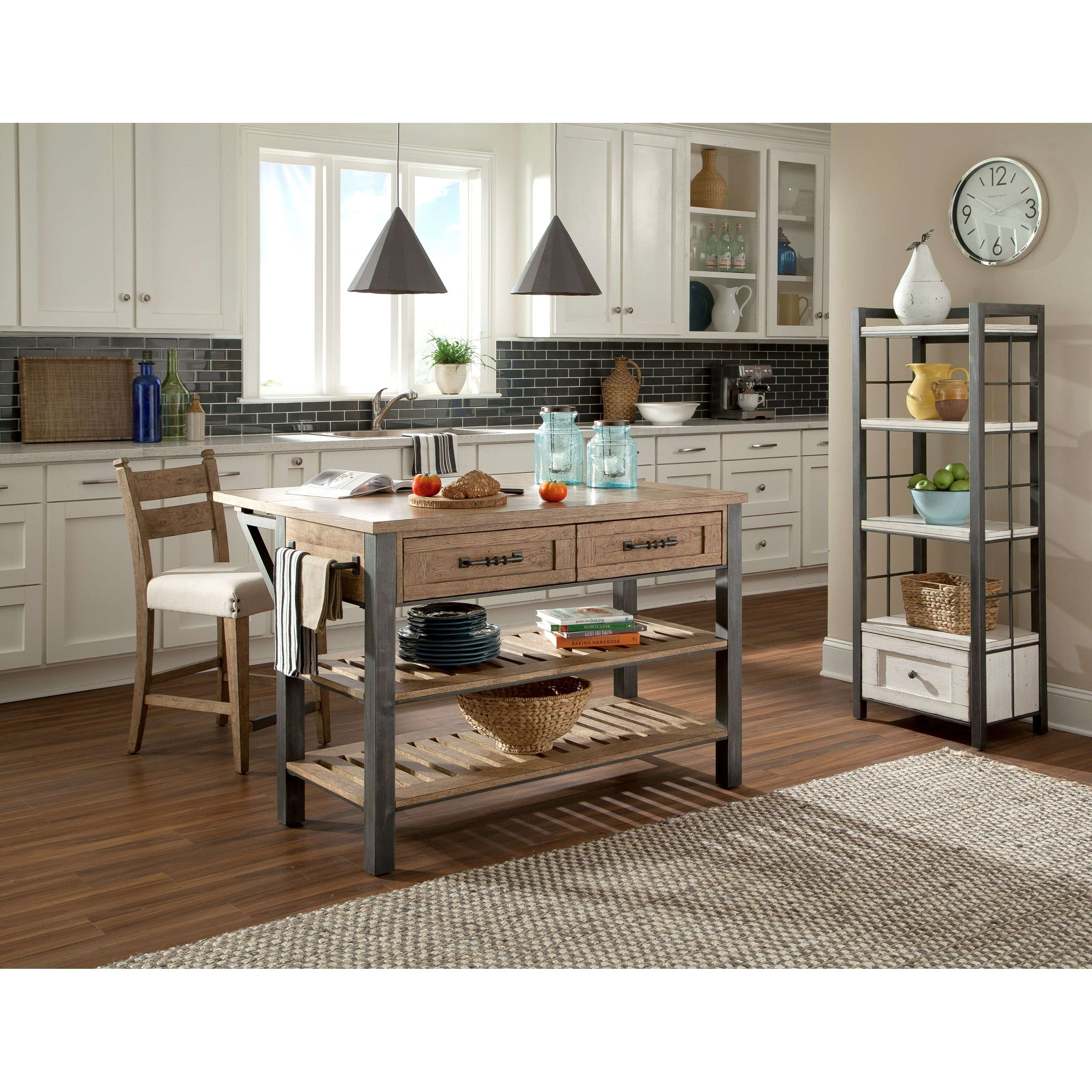 Reunion Kitchen Island Drop Front Table Extension