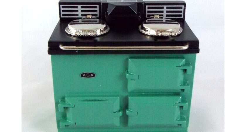 Reutter Kitchen Furniture Green Aga Stove Oven