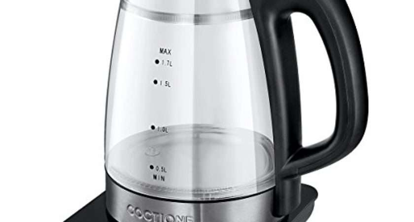 Review Electric Kettle Coctione Glass Digital Kettles