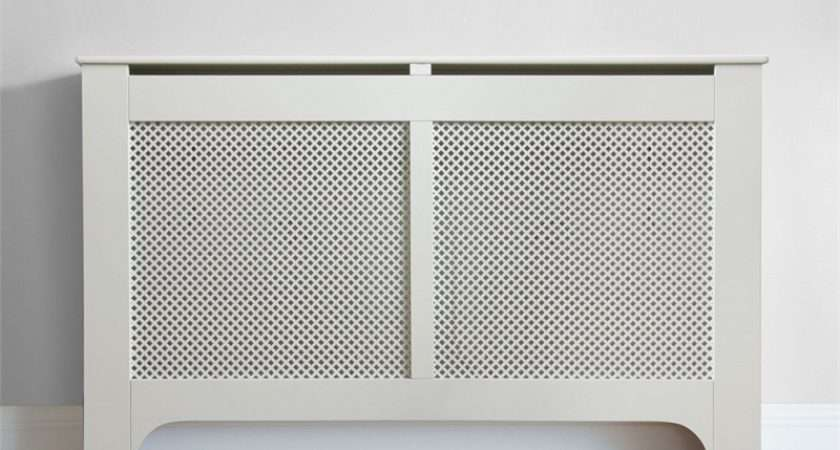 Richmond Radiator Cabinet Cover Smooth White Homebase
