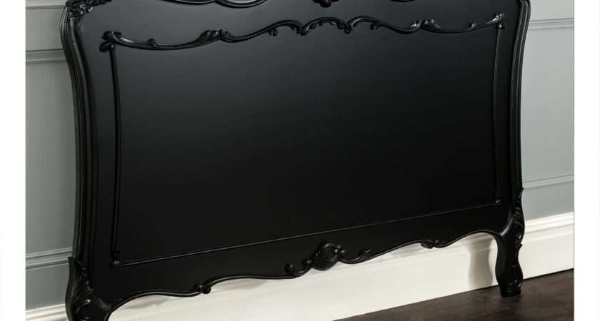 Rochelle Black Antique French Headboard Working Well