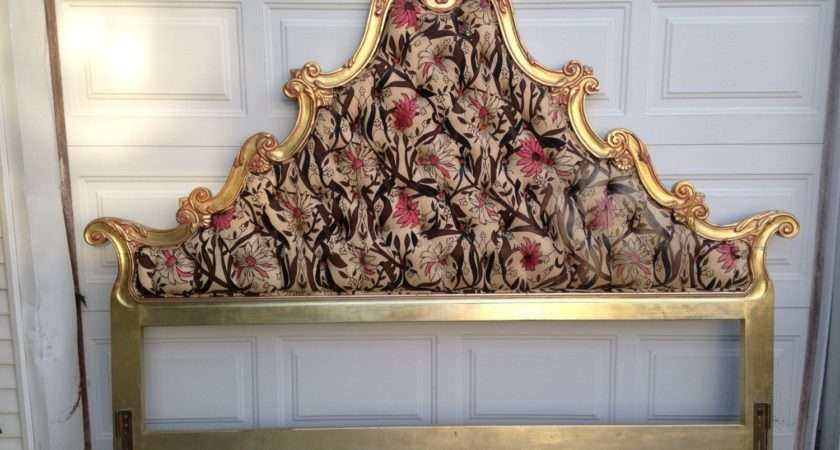 Rococo Style King Upholstered Headboard Haute Juice