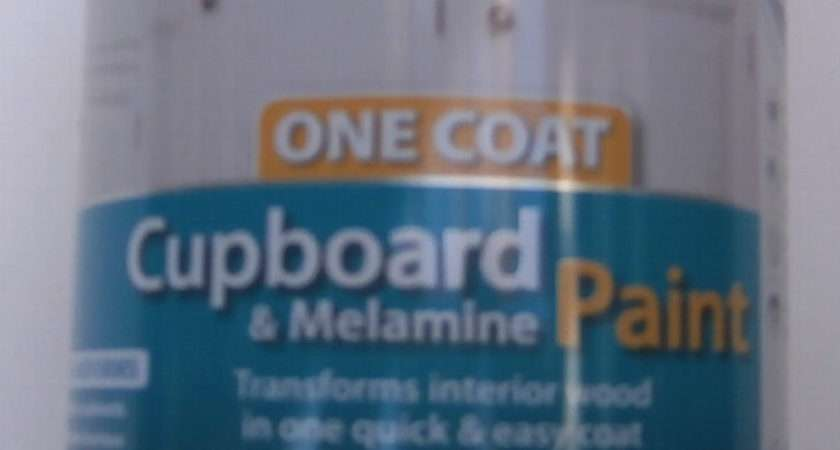 Ronseal One Coat Cupboard Melamine Paint Black Satin