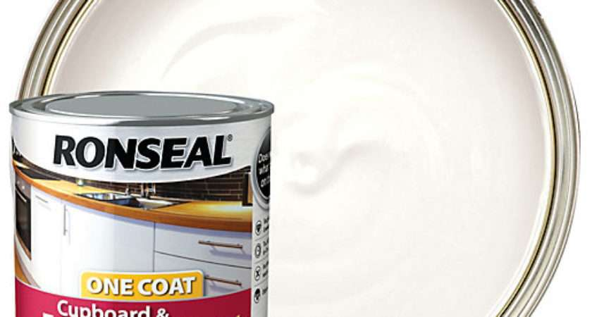Ronseal One Coat Cupboard Paint White Gloss Wickes