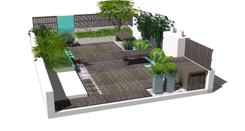 Rooftops Gardens Inspiration Drawing Sketches Draft