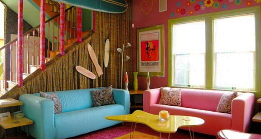 Room Bright Living Color Ideas Girly