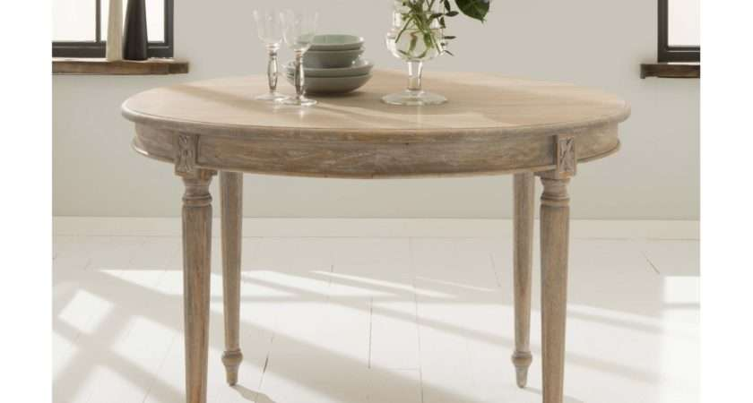 Round Antique French Style Dining Table