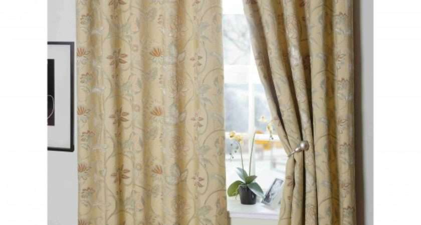 Royale Floral Lined Ready Made Eyelet Ring Top Curtains Design