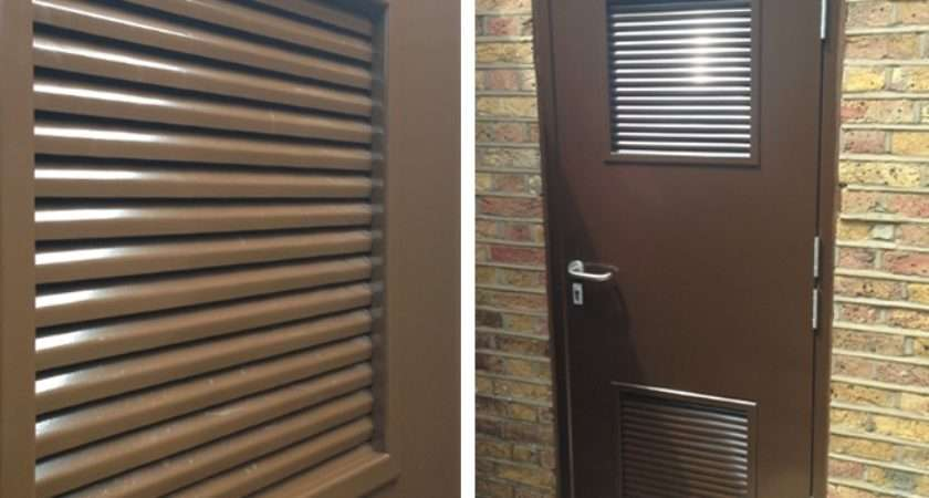 Rsg Louvre Doors Steel Ventilated Fully